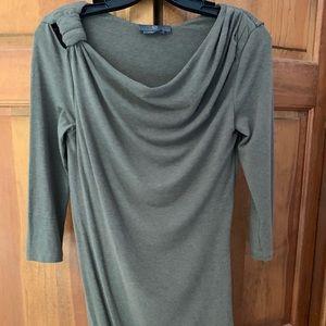 McQ 3/4 sleeve olive green mini dress
